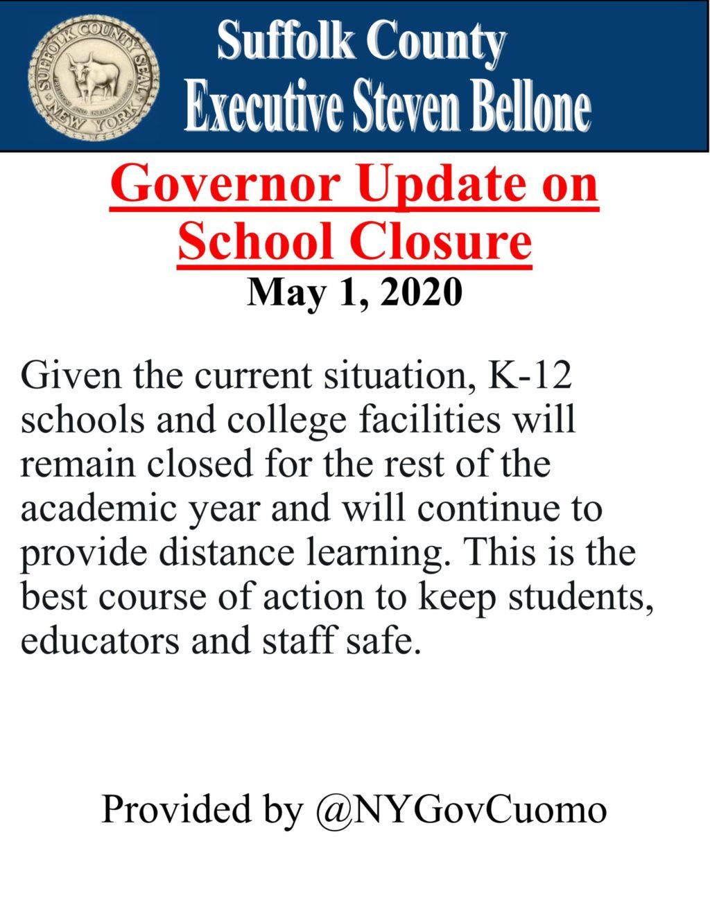 English -NY Gov Cuomo School Closure Update Edit 5.1.2020